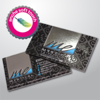 BV PLAS SOFT-TOUCH FR/RE + HOT-STAMPING + VERNICE UV LUCIDA A ZONA