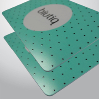TESSERE PVC - CARD 0,76 MM LUCIDE CON RILIEVO UV 3D LUCIDO