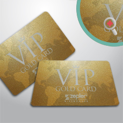 TESSERE PVC - CARD 0,76 mm ORO BRILLANTINATE
