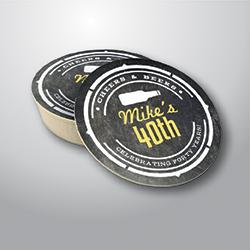 SOTTOBICCHIERI ROTONDI diam 107 mm beerboard 14 mm